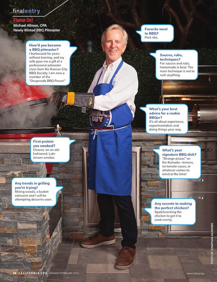 Michael Allmon, CPA - Newly Minted BBQ Pitmaster